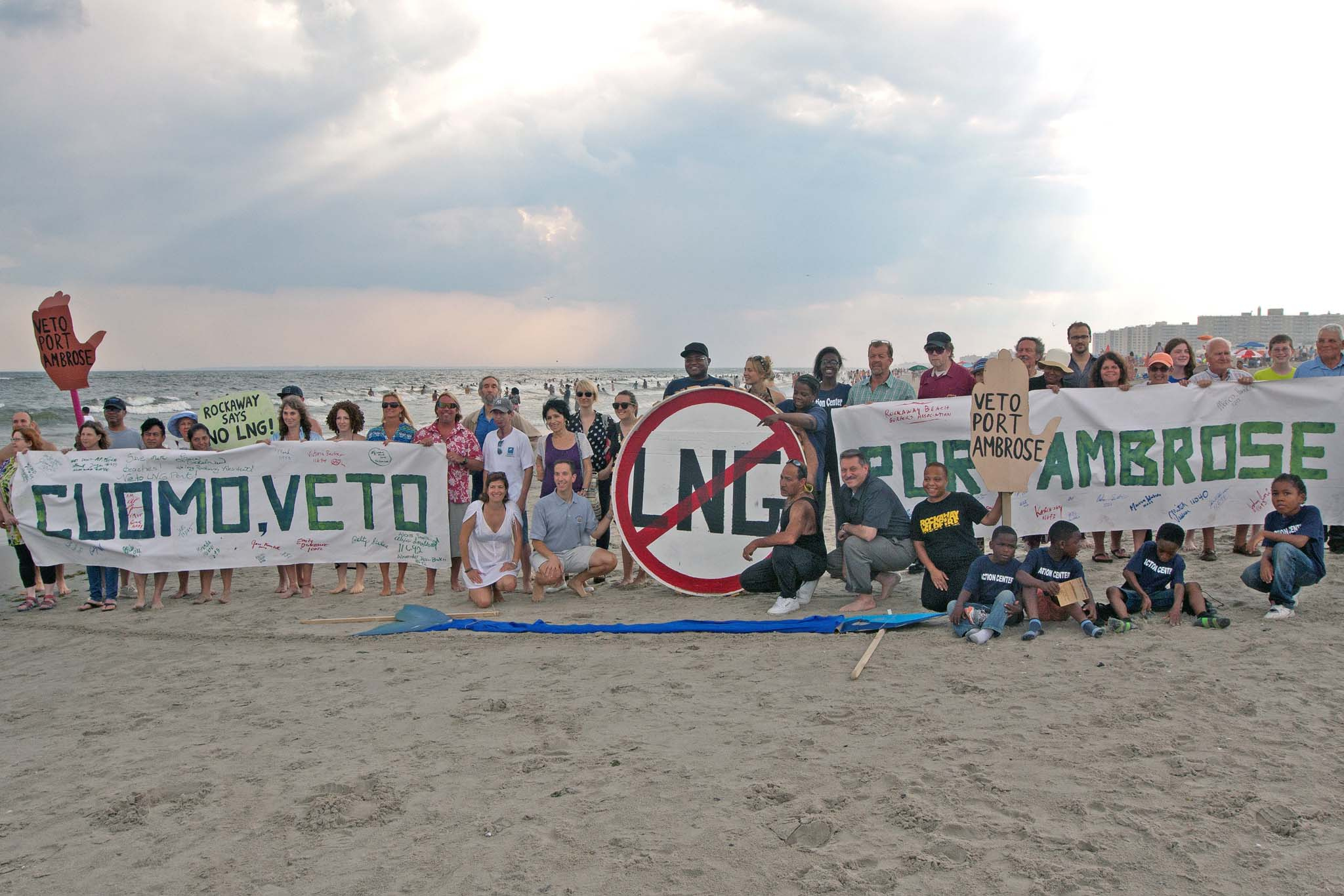 "Rockaway's ""Line in the Sand Protest"""